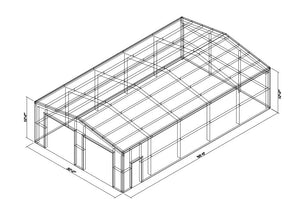 30 x 50 x 12 Steel Building Kit