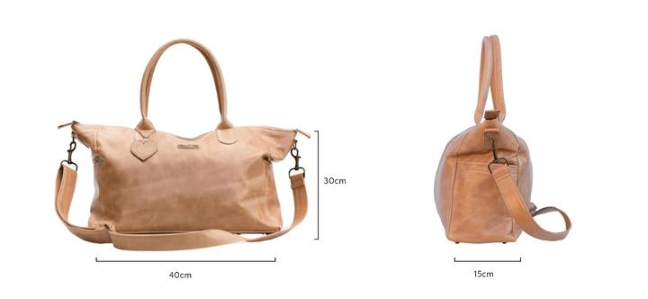 The Classic Baby Bag in Tan