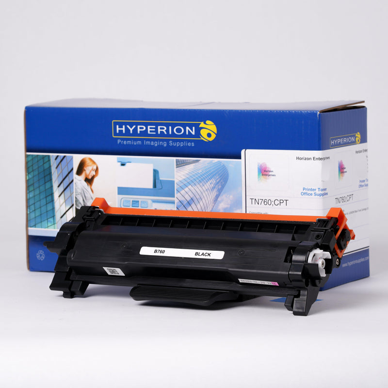 TN760 High Yield Hyperion Compatible Replacement Printer Toner Cartridge - Horizon Ink
