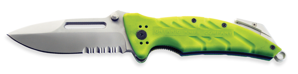 XR-1 Safety Green Serrated
