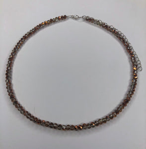 Copper and Clear Choker