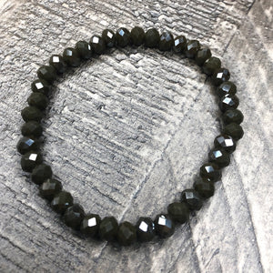 Dark Grey Beaded Bracelet