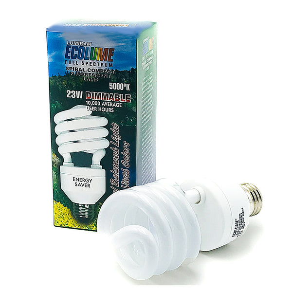 Ecolume Full Spectrum Spiral Dimmable CFL 23W 5000K