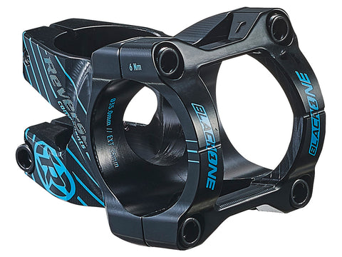 REVERSE Stem Black-ONE Enduro 35mm Ø35mm (Black/Light-Blue) - GiraSykkel