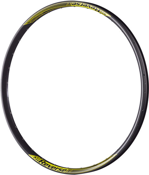 "REVERSE Rim Base DH 27,5"" (Black/Yellow) 32 hole - GiraSykkel"