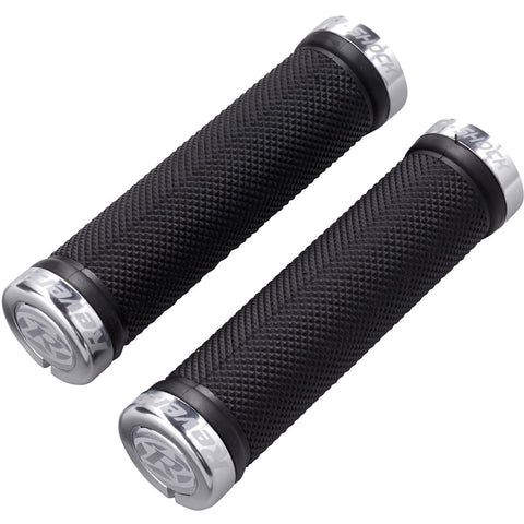 REVERSE Grip R-Shock Lock On Ø29mm x 130mm (Black/Polish) - GiraSykkel