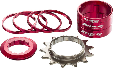 REVERSE Single Speed Kit 13T (Red) - GiraSykkel