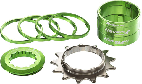 REVERSE Single Speed Kit 13T (Green) - GiraSykkel