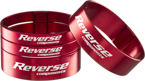 "REVERSE Spacer Set Ultra-Light 1 1/8"" (Red) - GiraSykkel"