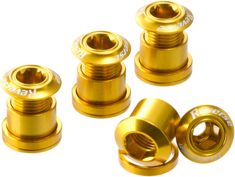REVERSE Chainring Bolt Set (4 pcs./Gold) - GiraSykkel