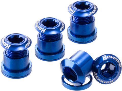 REVERSE Chainring Bolt Set (4 pcs./Blue) - GiraSykkel
