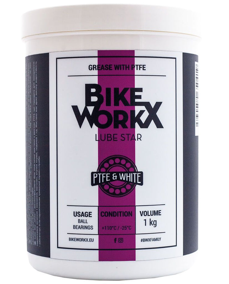 Bikeworkx Lube Star White - GiraSykkel