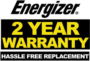 Energizer 1 Gauge 800A 2 year warranty hassle free replacement