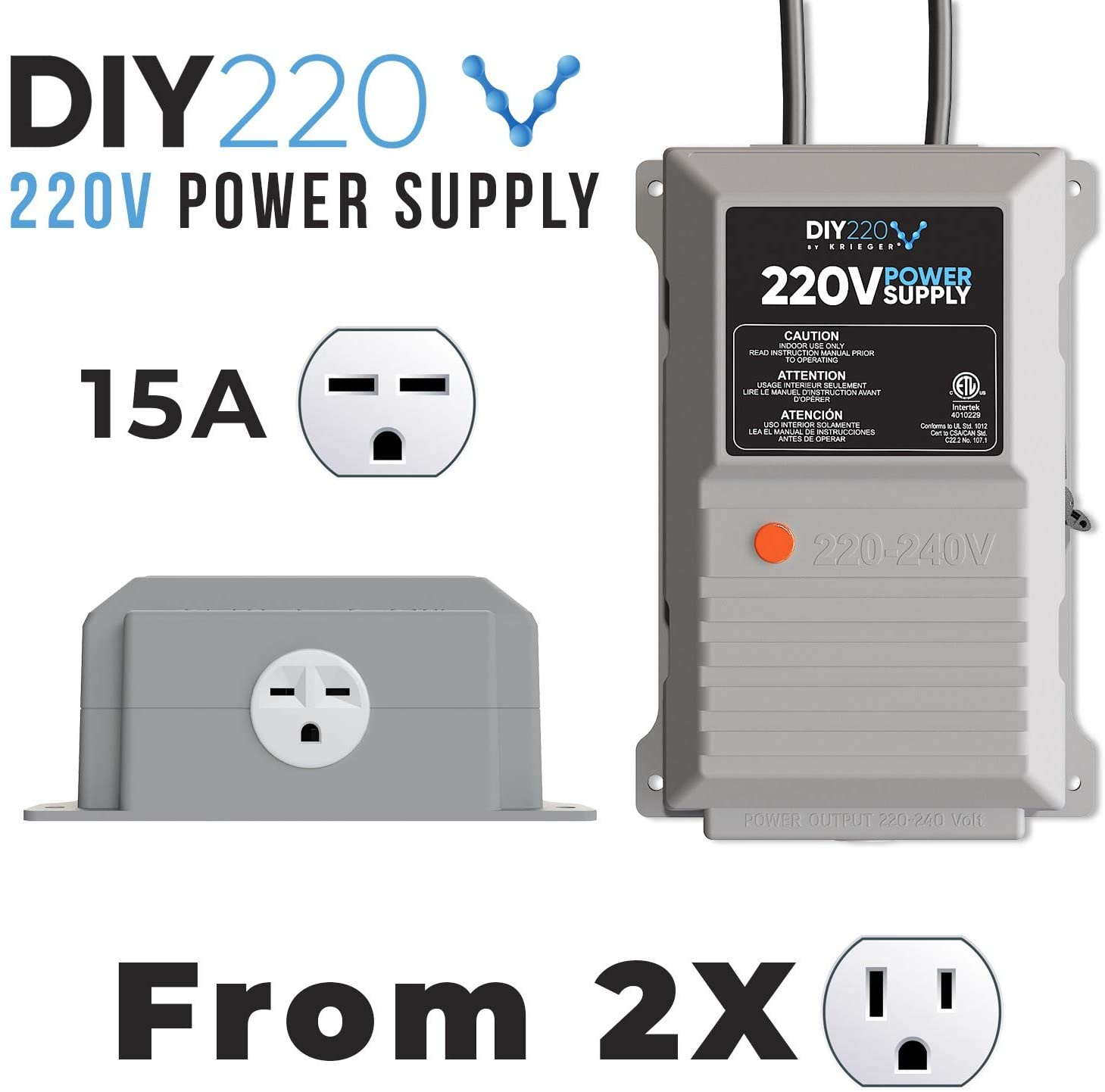 diy220 quick connect 220v power supply power 208 240 volts from two s