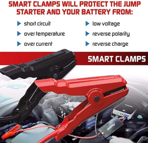 Energizer Heavy Duty Jump Starter 7500mAh image of smart clamps