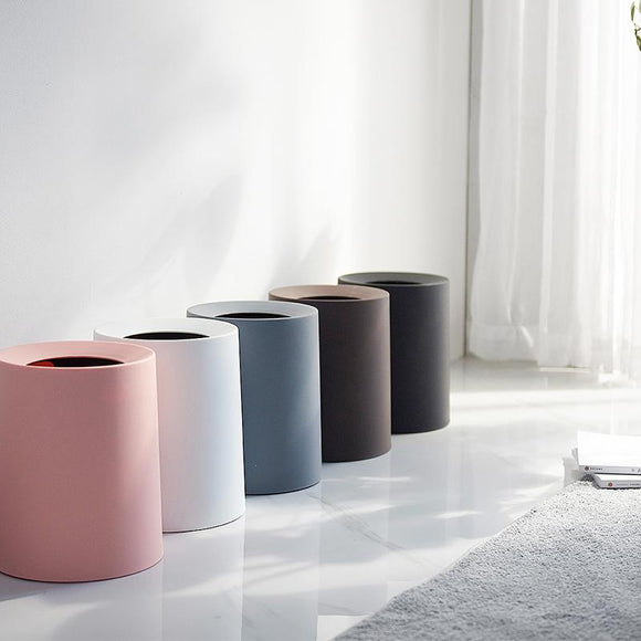 Creative Plastic Matte Trash Can