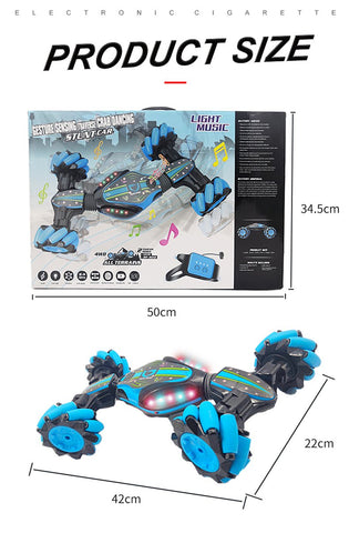 Gesture control double-sided stunt car gift for kid