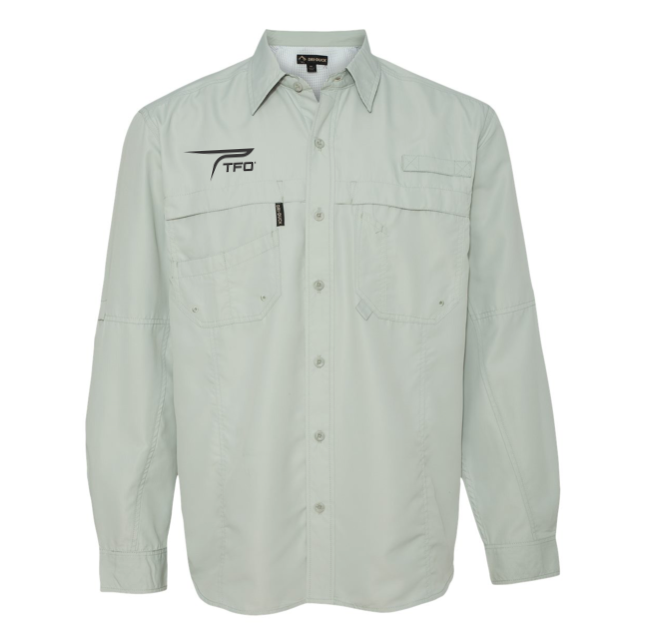 TFO Button Up Fishing Shirt (Fog)