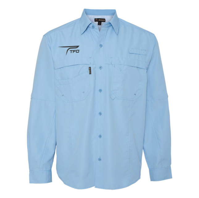 TFO Button Up Fishing Shirt (Sky)