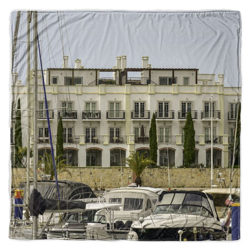 Vilamoura Marina Throw Blanket
