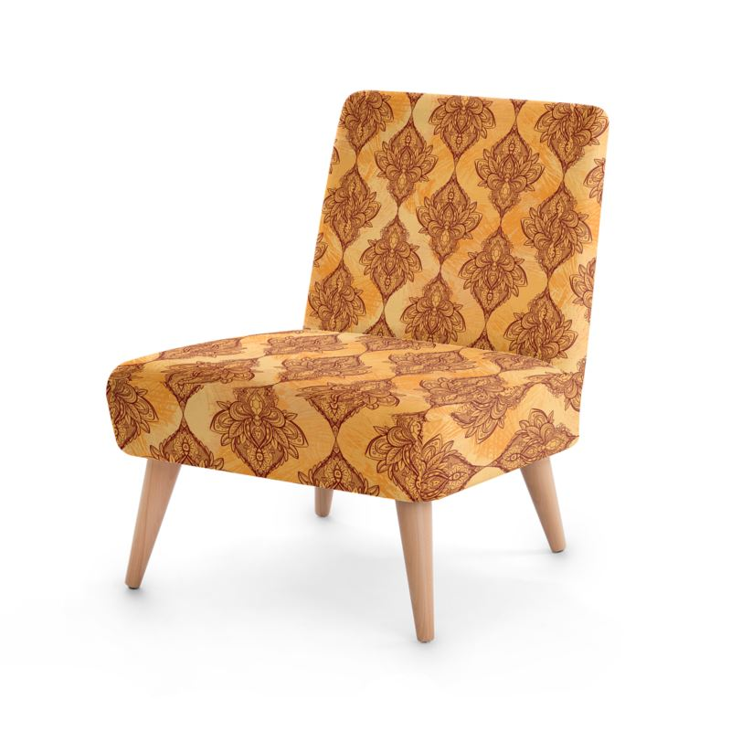 Sun-Kissed Lotus Pattern Chair