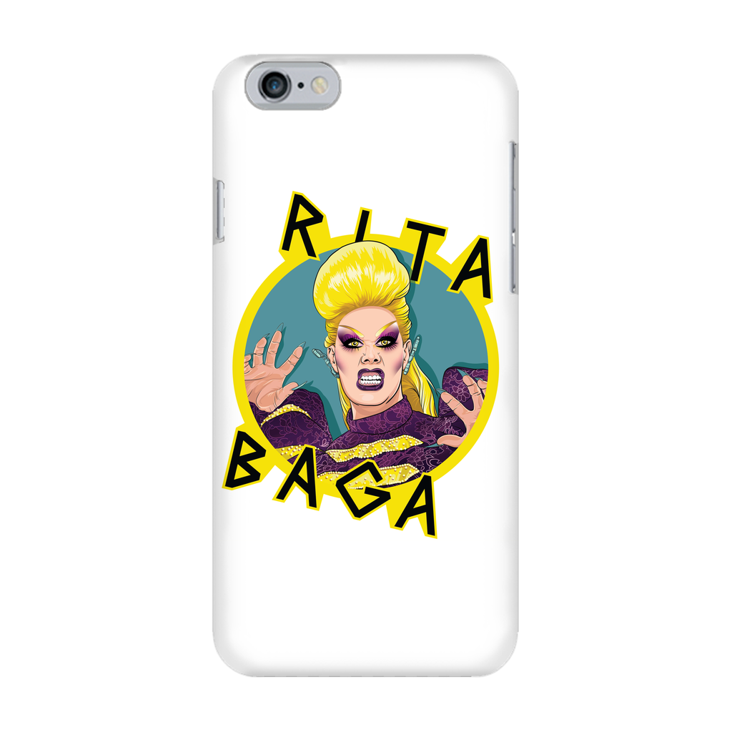 Rita Baga - White Phone Case - SNATCHED MERCH