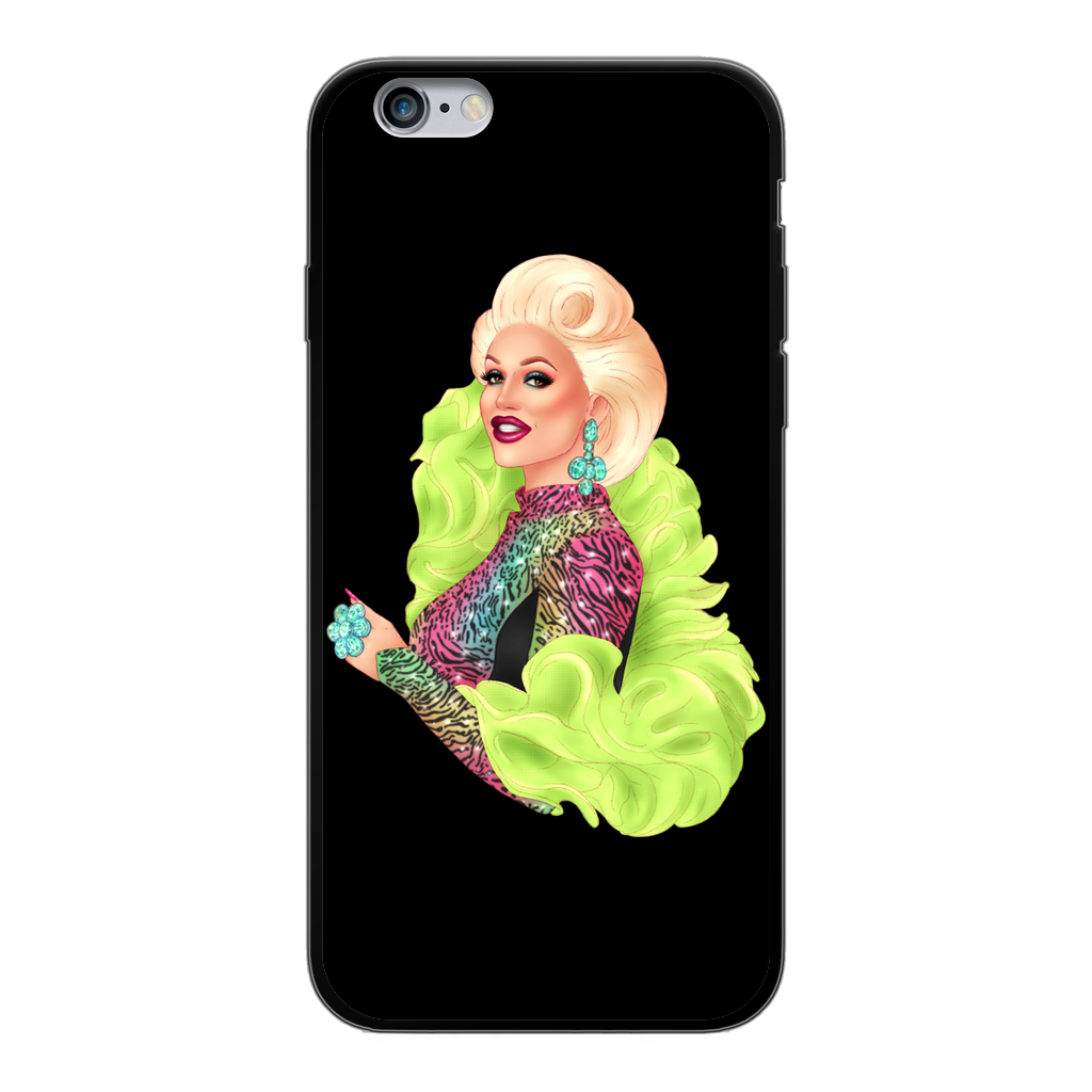 Megan Schoonbrood - Black Phone Case