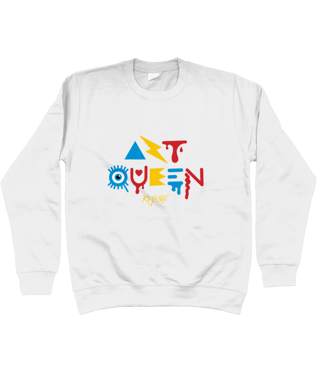 Rujazzle - Art Queen Sweatshirt - SNATCHED