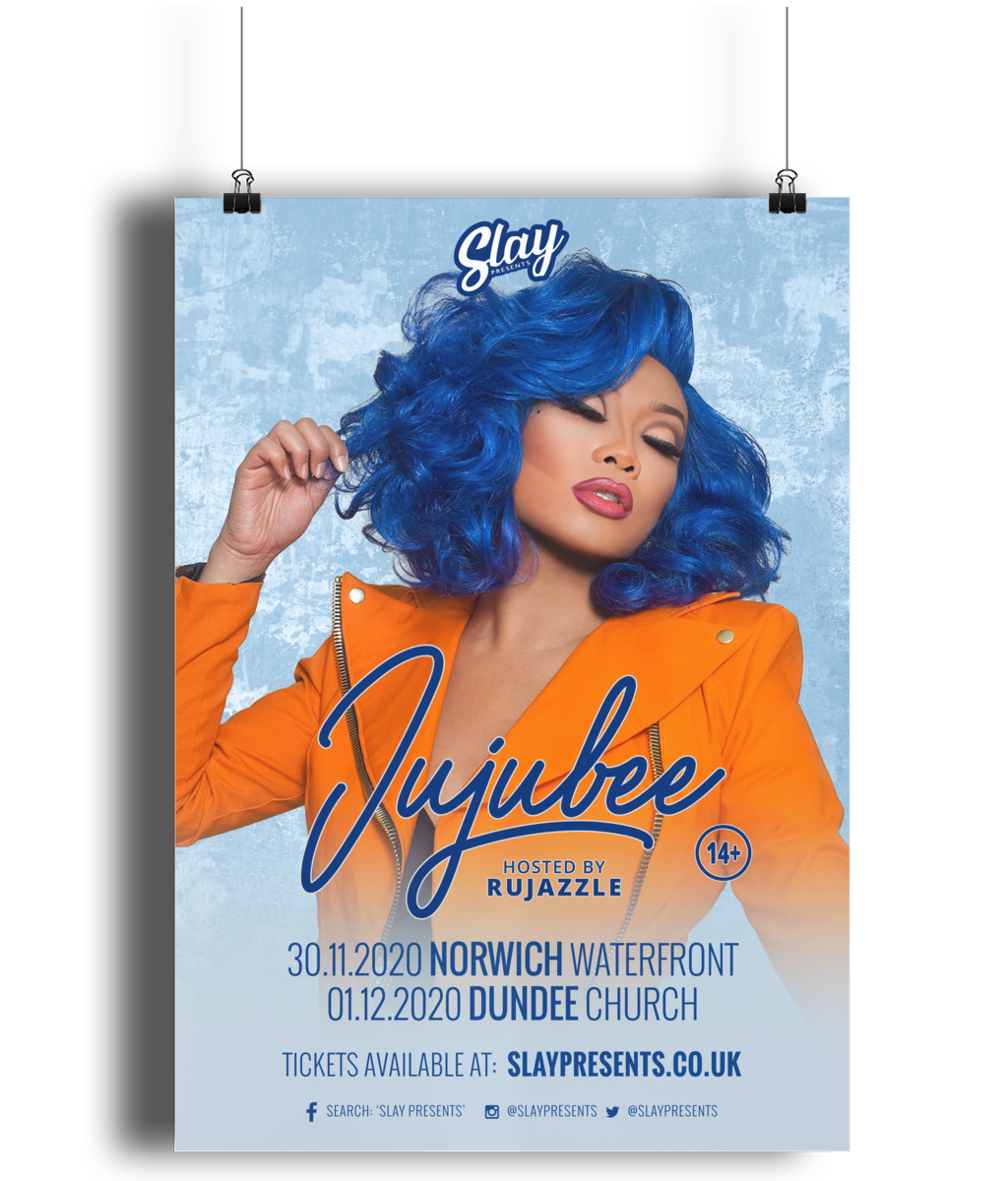 Jujubee UK Tour Poster - SNATCHED