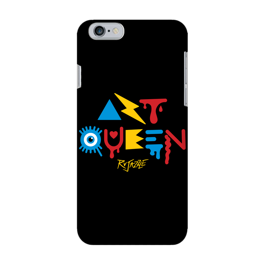 Rujazzle - Black Art Queen Phone Case - SNATCHED