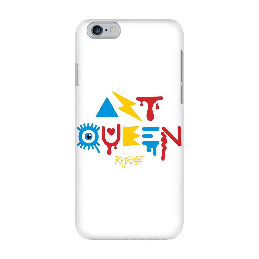 Rujazzle - White Art Queen Phone Case - SNATCHED