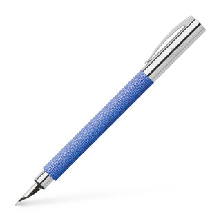 Ambition OpArt Blue Lagoon fountain pen, M, blue