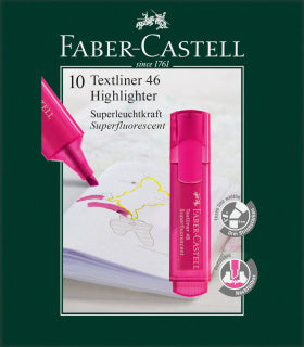 Textliner 46 Superflourescent, pink - Box of 10