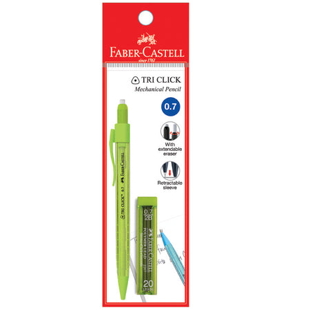 Tri Click Mechanical Pencil 0.7mm with leads, Pastel Colours, PB of 1