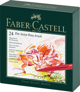 Pitt Artist Pen Brush India ink pen, studio box of 24