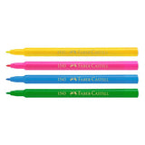 Fibre tip colour pen, wallet of 12
