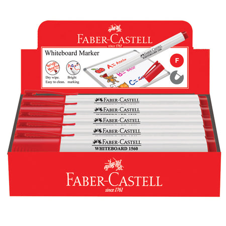 Marker Slim Whiteboard, fine, red, box of 10