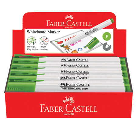 Marker Slim Whiteboard, fine, light green, box of 10
