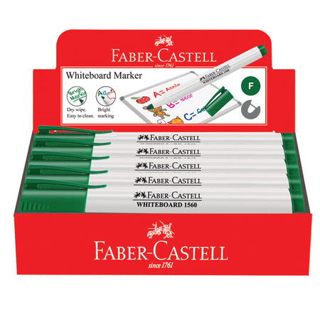 Marker Slim Whiteboard, fine, green, box of 10