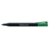 Marker Slim Permanent fine, green, blistercard of 1