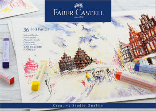 Soft pastels, cardboard wallet of 36