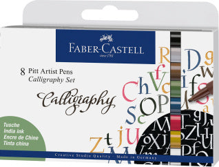 Pitt Artist Pen Calligraphy India ink pen, set of 8