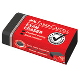 Eraser Dust-free Exam Grade, black, box of 24