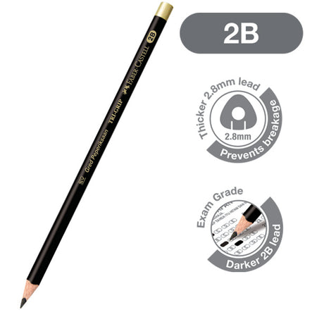 Graphite pencil Tri-Grip 2B, Exam Set in blistercard