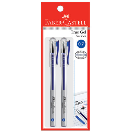 Gel pen True Gel, 0.7mm, blue, blistercard of 2
