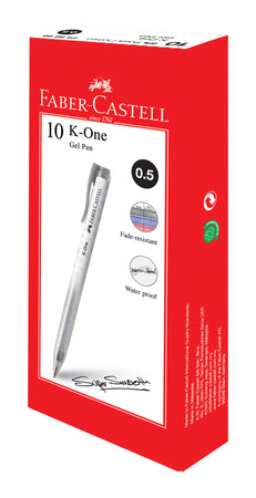 Gel pen K One 0.5 black, Box of 10