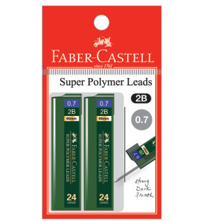 Polymer lead 2B, 0.7mm, blistercard of 2