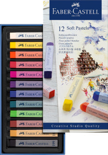 Soft pastels, cardboard wallet of 12