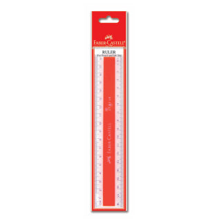 Ruler plastic 18cm, box of 20