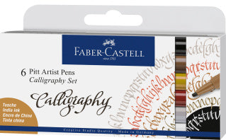 Pitt Artist Pen Calligraphy India ink pen, set of 6